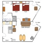 Lakeside Suite floor plan